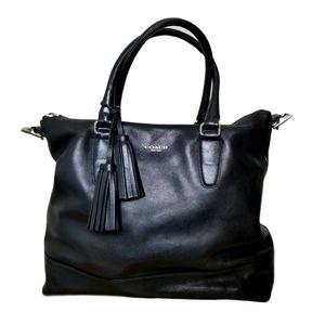 Coach legacy rory satchel black leather handbag